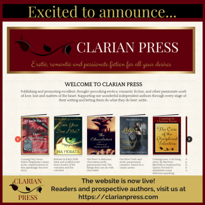 Clarian Press Excited to announce... the website is live!